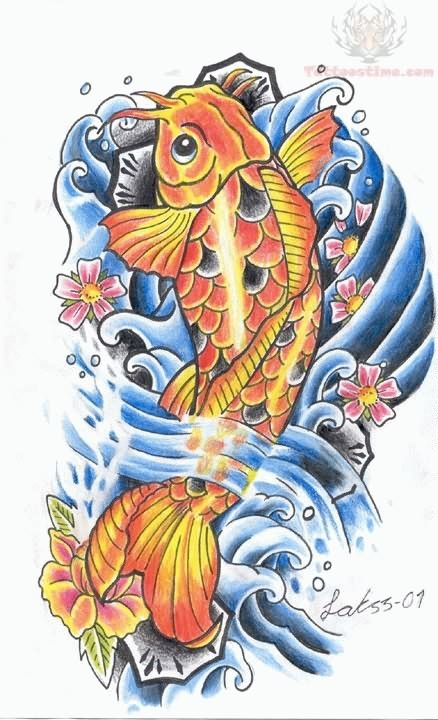 Aqua koi fish tattoo design in 2017 real photo pictures for Koi fish near me