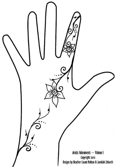 Arabic Henna Tattoo Design On Right Hand in 2017: Real Photo