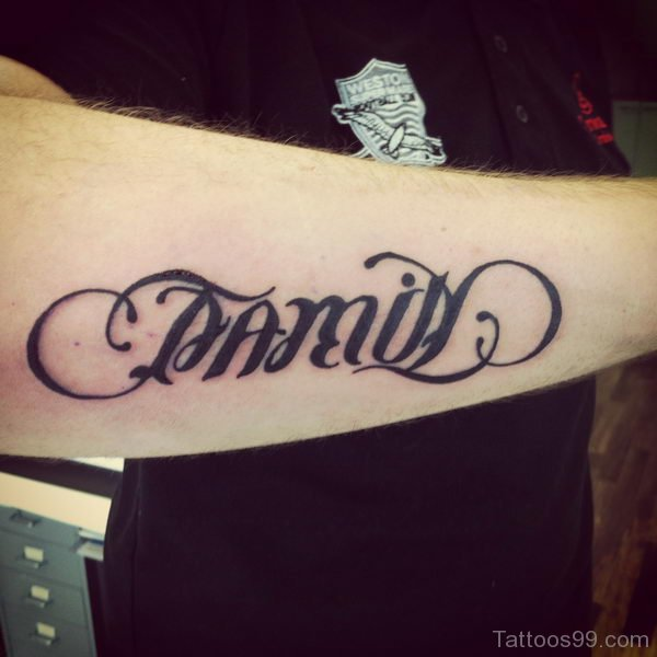 Arm Ambigram Tattoo Picture
