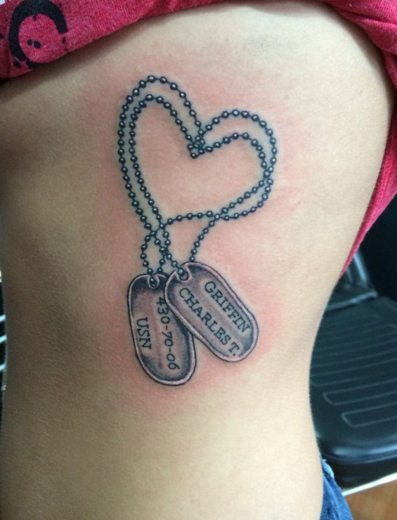 Army Strong Tags Tattoo