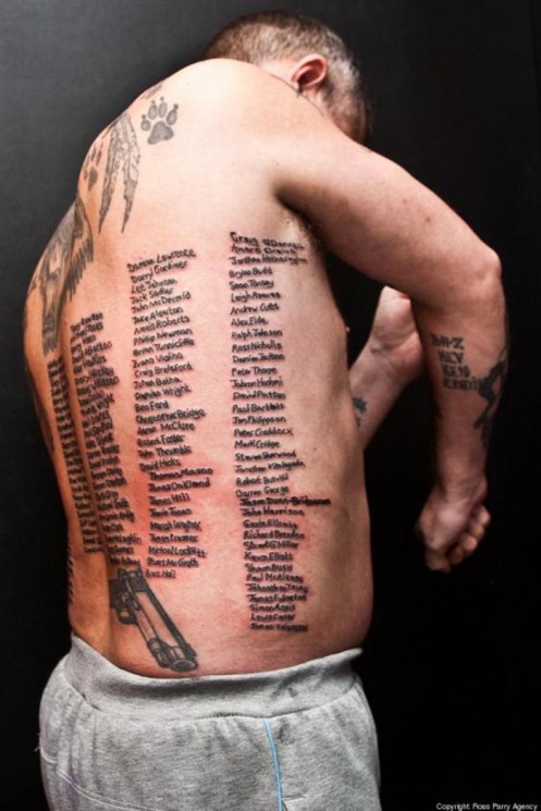 Army Tattoo For Back