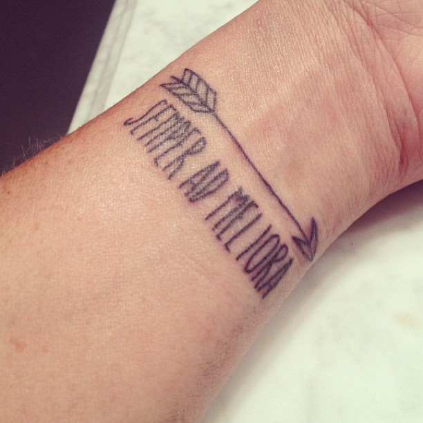 Arrow Lettering Infinity And Anchor Tattoo Images