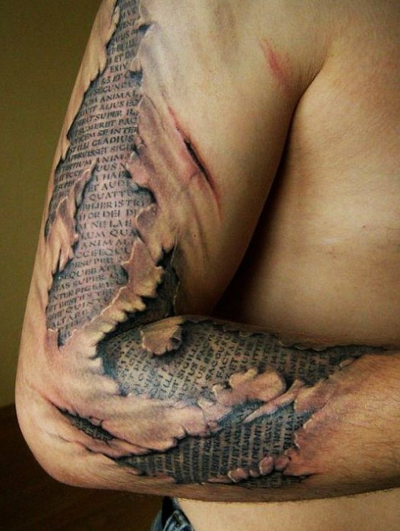 Artistic 3D Dolphin Tattoo On Right Shoulder