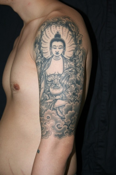 Asian Religious Sleeve Tattoos