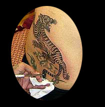 Asian Tiger Tattoo For Body