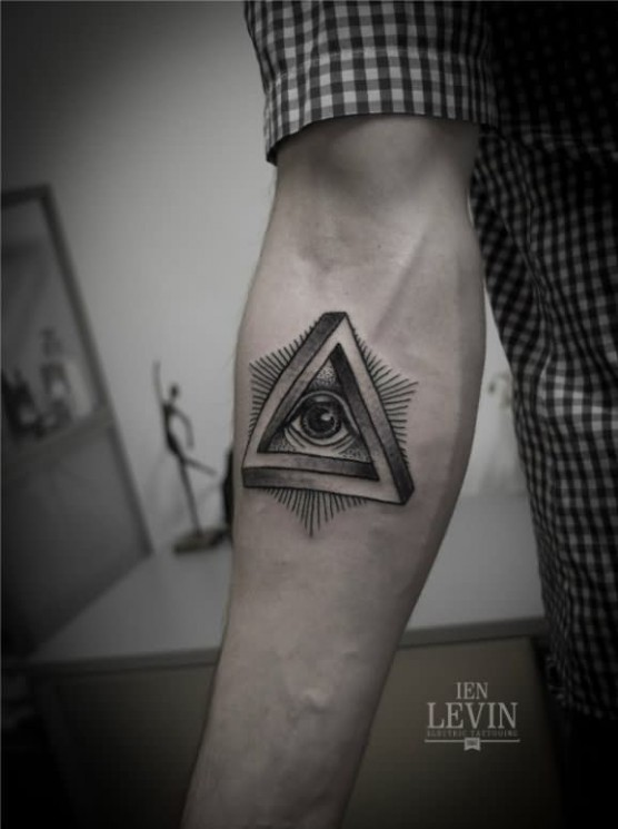 Attractive Triangle Eye Tattoo