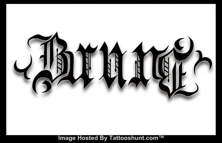 Awesome Ambigram Tattoo Design On Arms