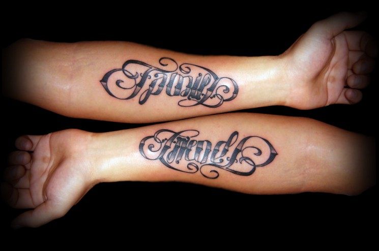 Awesome Ambigram Tattoo On Rib Side For Girls