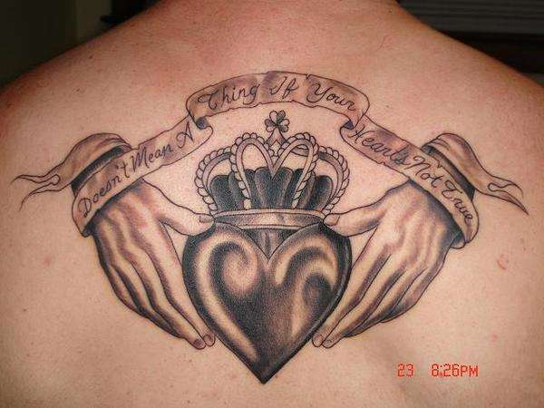 Awesome Claddagh Tattoo Picture