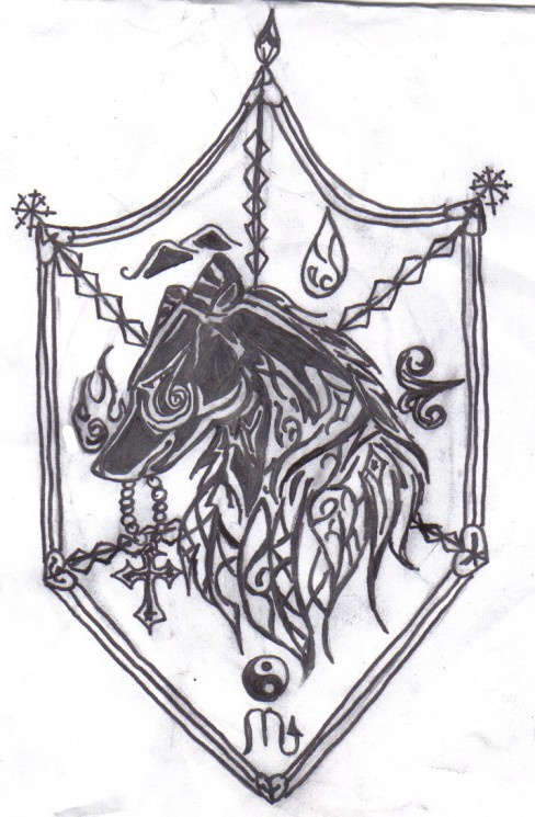 Awesome Coat Of Arms Tattoo Design