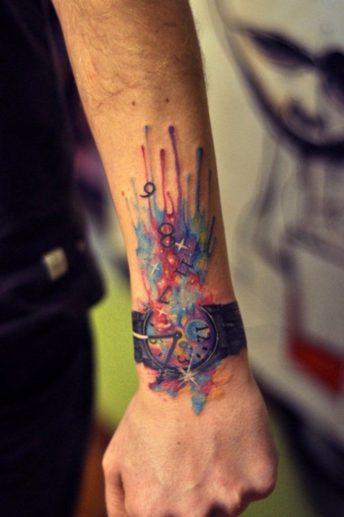 Awesome Cup Cake Tattoo On Foot