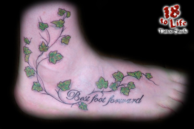 Awesome Ivy Vine Tattoo