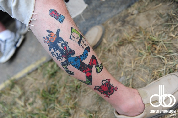 Awesome Juggalo Tattoo On Leg