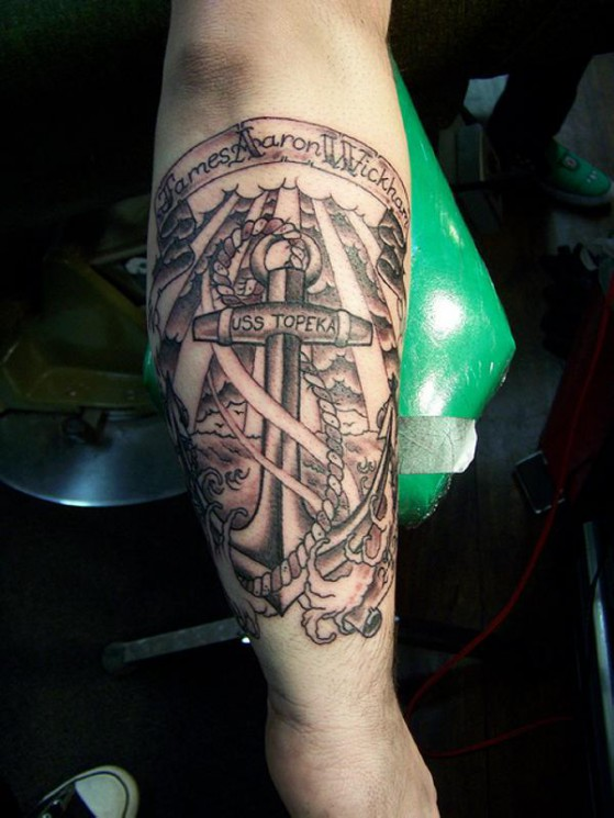 Awesome Rope Anchor Symbol Tattoo