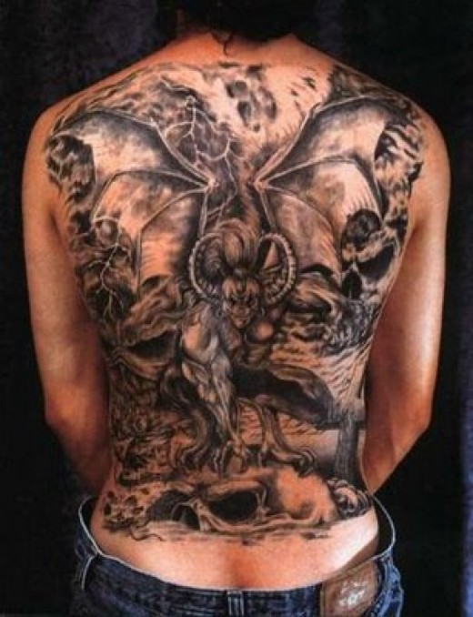 Awesome Vampire Bat Tattoo For Shoulder