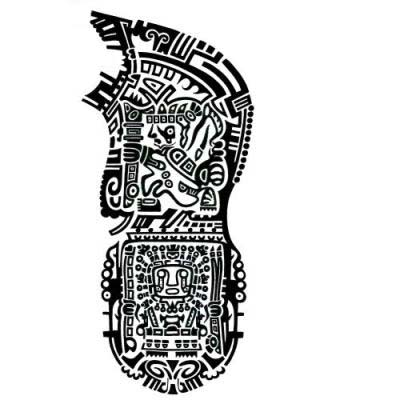 Aztec Frog Tattoo Design