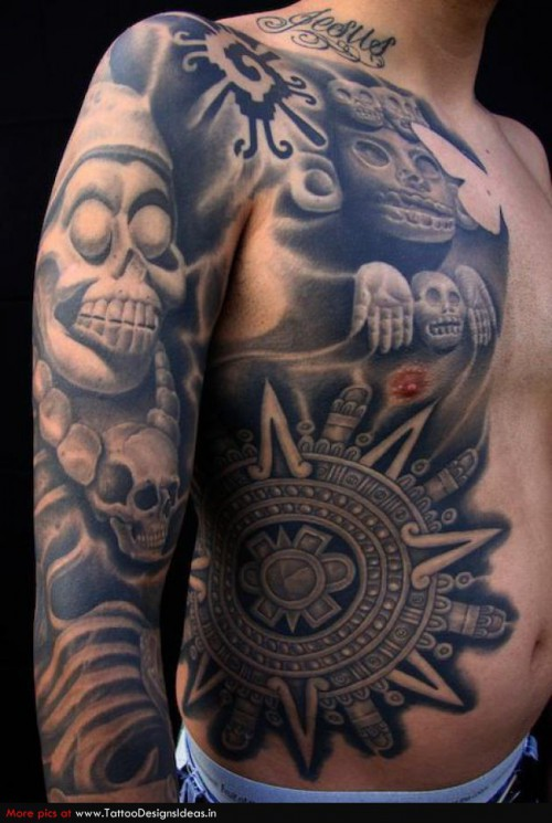 Aztec Indian Tattoo Picture