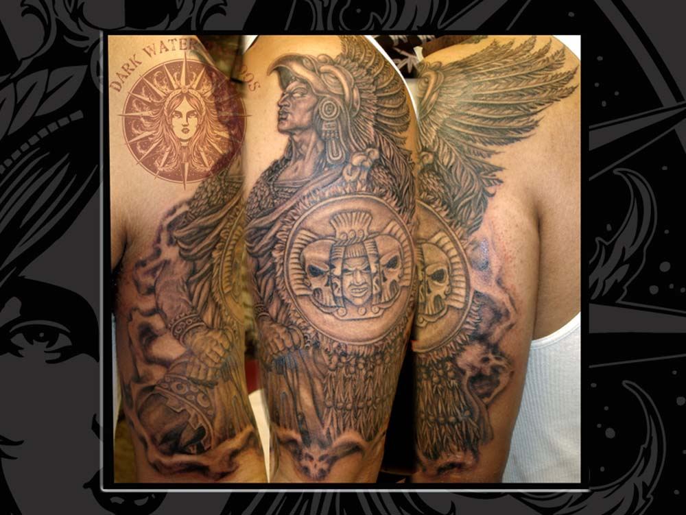 Aztec Warriors Half Sleeve Tattoos Photo 5 2017 Real Photo Pictures Images And Sketches Tattoo Collections