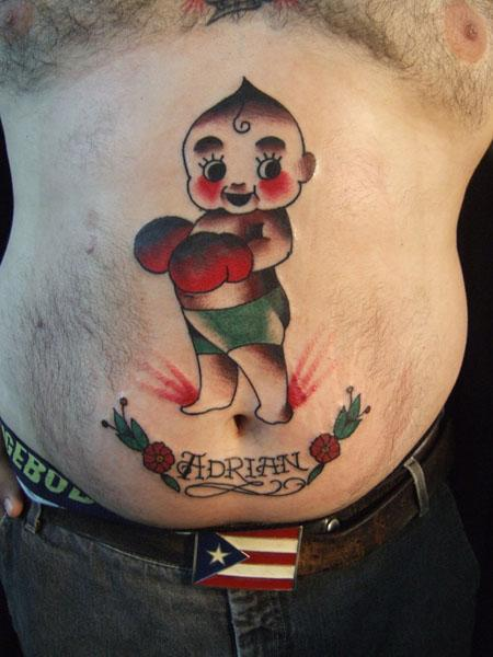 Baby Boxer Traditional Tattoo
