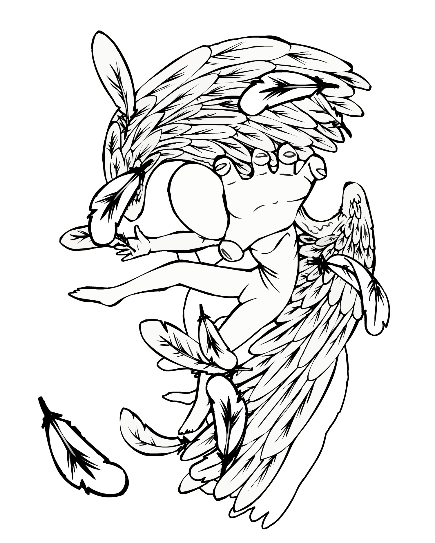 Free skull tattoo designs to print - Baby Tattoo Angel Designs Photo 1