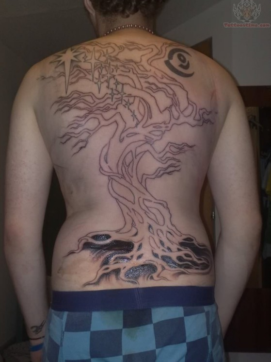 Back Body Tree Tattoo Images