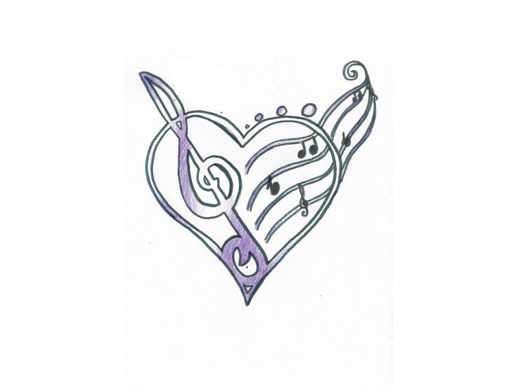 Back Ear Horseshoe Tattoo Design
