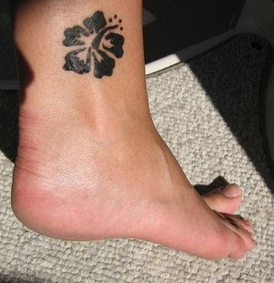 Ballon Ankle Tattoo Design