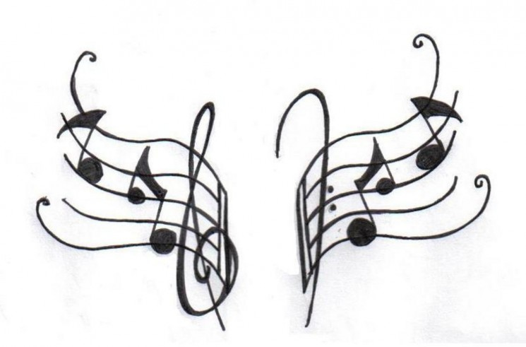 Band Instrument Tattoo Design