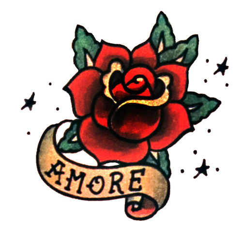 Banner And Rose Tattoos Sample