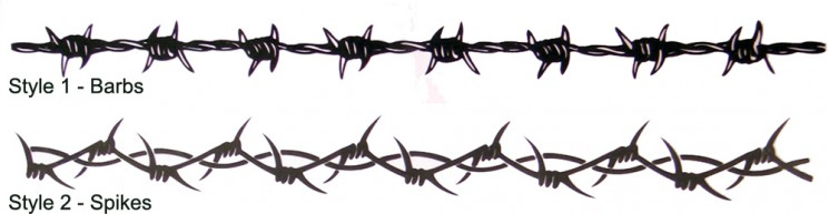 Barb Wire Arm Band Tattoo