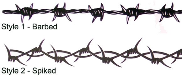 Barbed Wire Armband Tattoo Image