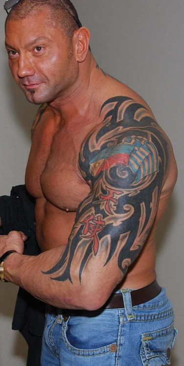 Batista Arm And Stomach Tattoos