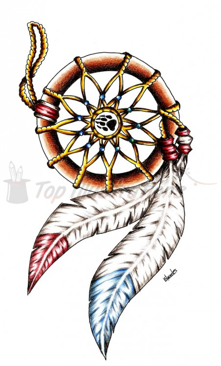 Bear And Fish Tattoo Design For Men