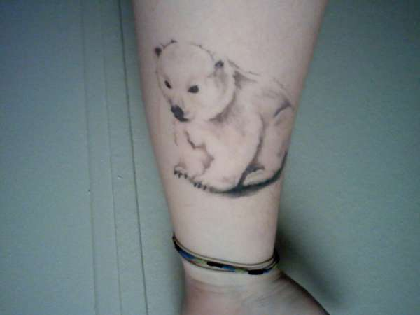 Bear In Flowers Tattoo