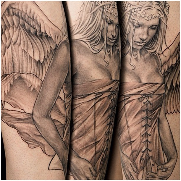 Beautiful Girl Angel Tattoo