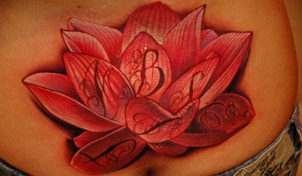 Baby Buddha With Crown & Lotus Tattoo Design