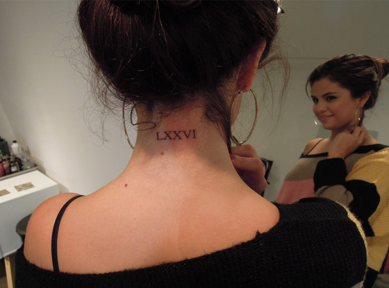Beautiful Word Tattoo On Back Of Neck