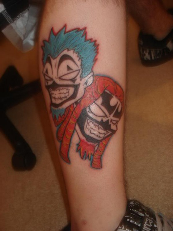 Best ICP Tattoo Design On Leg