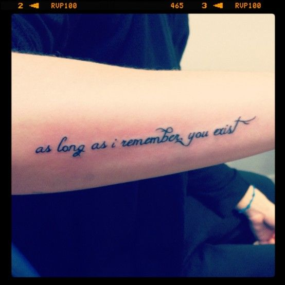 Best Memorial Quote Tattoo For Sister