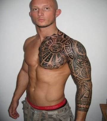 b5fe6364d7212 ... Big Cool Mayan Calendar Half Sleeve Tattoo Design made by different  people of different ages. Perhaps you will enjoy realization of a tattoo on  your ...