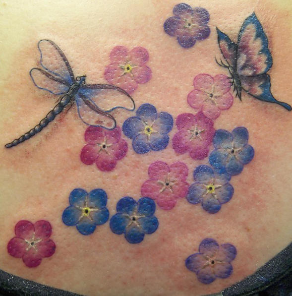 Big Dragonfly Tattoo For Girls On Back