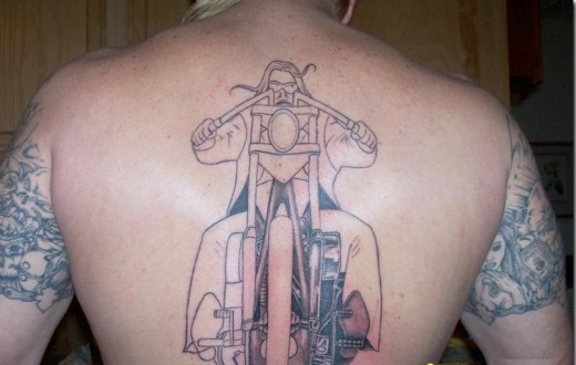 Bike Gear Parts Tattoo On Rib Side
