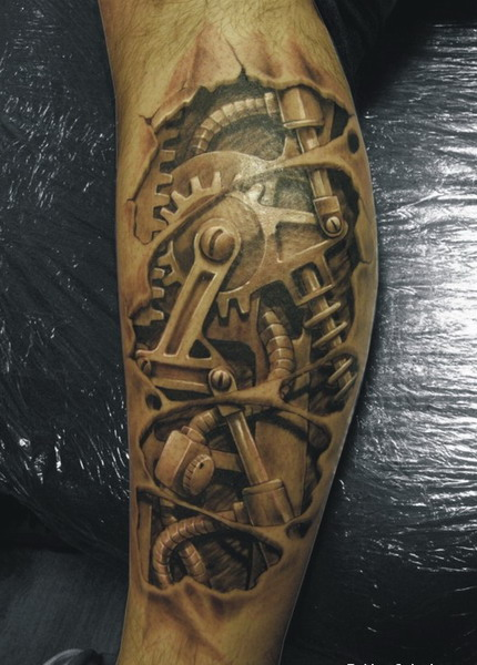 Biomechanical Tattoo For Your Muscles
