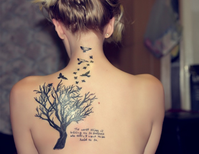 Bird Quote Tattoo