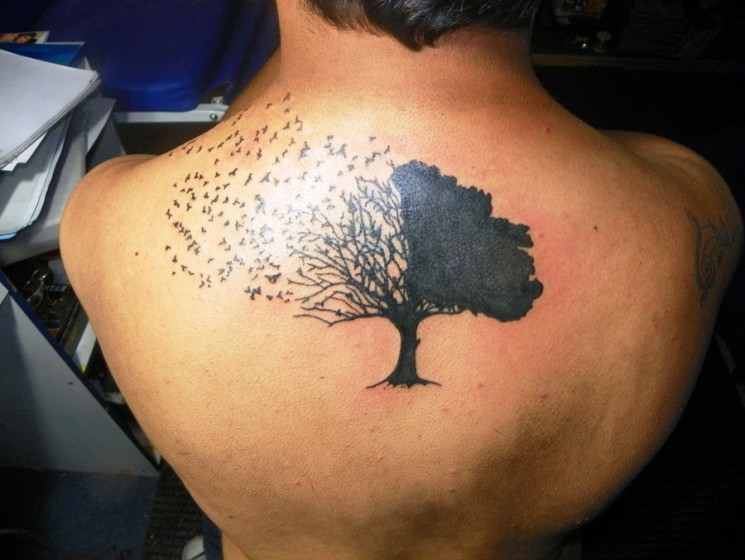 Birds And Tree Tattoos For Men