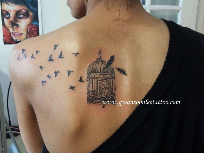 Birds From Cage – Shoulder Tattoos