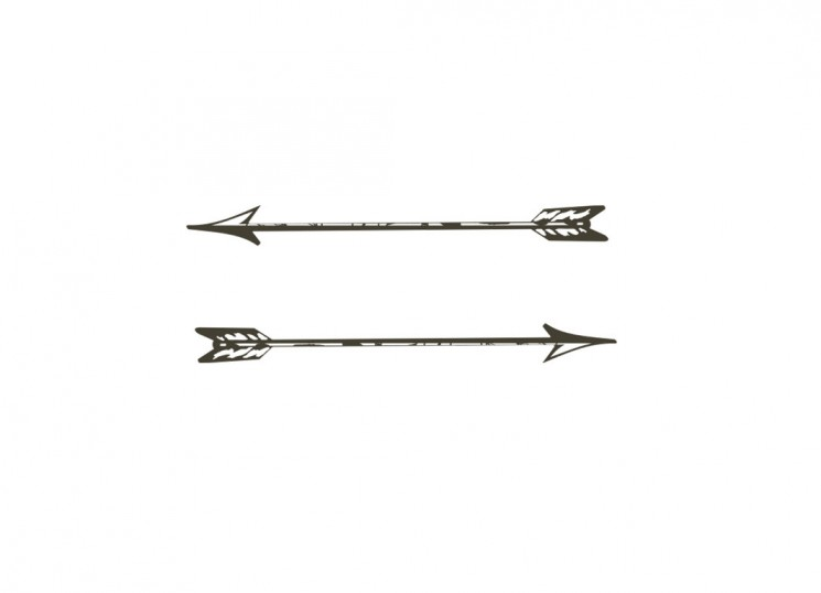 Black And White Bow And Arrow Tattoos