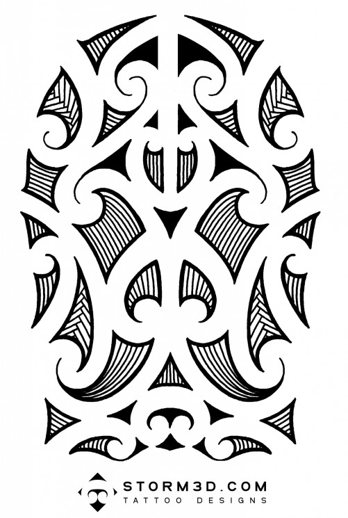 Black n White Hawaiian Islands Tattoo Design