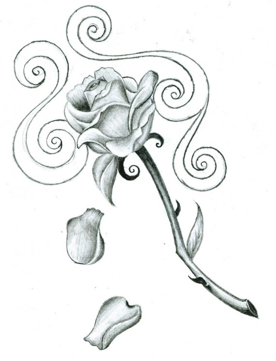 Bleeding Love Tattoo Design