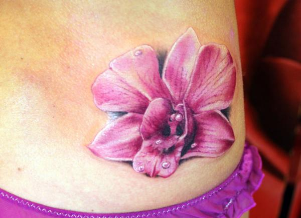 Blue Orchid Tattoos Design